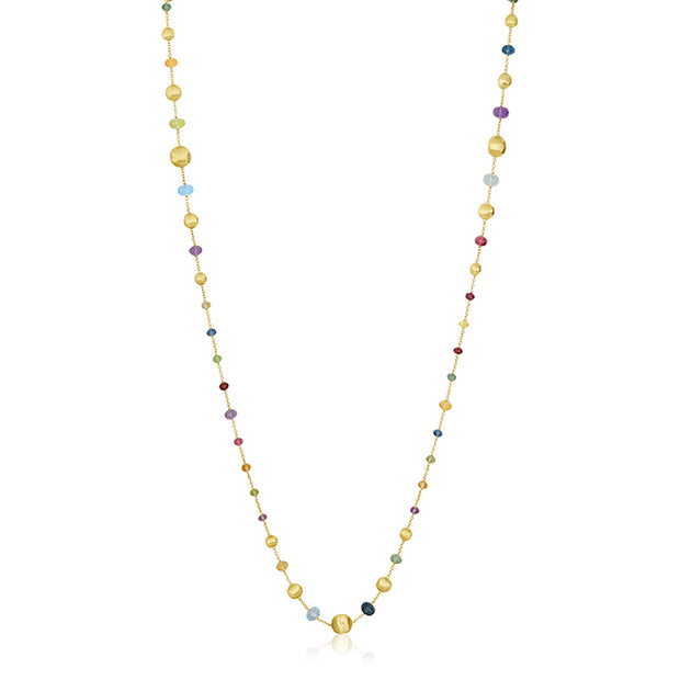 18K Yellow Gold Africa Collection Mixed Stone Necklace
