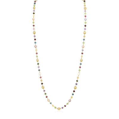 18K Yellow Gold Africa Collection Pearl and Bead Necklace