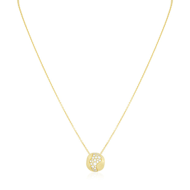 18K Yellow Gold and Diamond Necklace