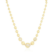 18K Yellow Gold Africa Collection Diamond Necklace