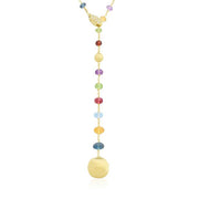 18K Yellow Gold Afric Collection Mixed Stone Necklace