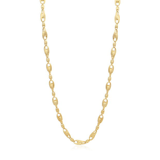 18K Yellow Gold Lucia Collection Large Link Necklace