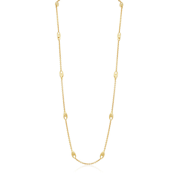 18K Yellow Gold Lucia Collection Long Link Necklace