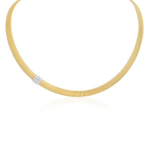 18K Yellow Gold Masai Collection Diamond Station Necklace