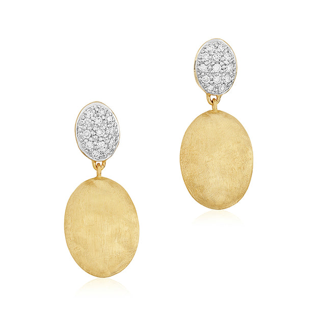 18K Yellow Gold Siviglia Collection Diamond Drop Earrings