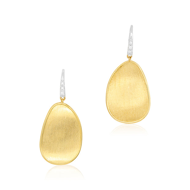 18K Yellow Gold Lunaria Collection Earrings With Diamonds