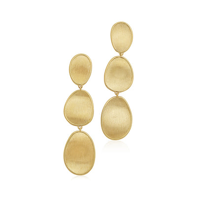 18K Yellow Gold Lunaria Collection Drop Earrings