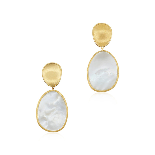18K Yellow Gold Lunaria Earrings