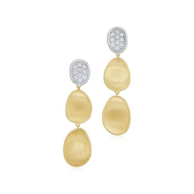 18K Yellow And White Gold Lunaria Collection Earrings Diamond earrings