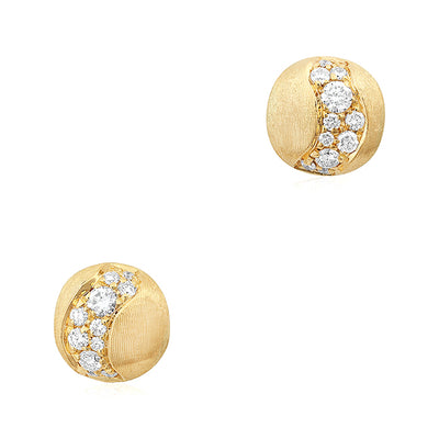 18K Yellow Gold Africa Constellation Collection Diamond Earrings
