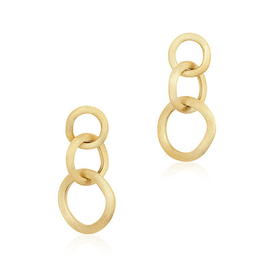 18K Yellow Gold Jaipur Collection Drop Earrings