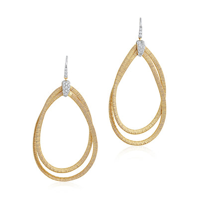 18K Yellow Gold Cairo Collection Diamond Drop Earrings