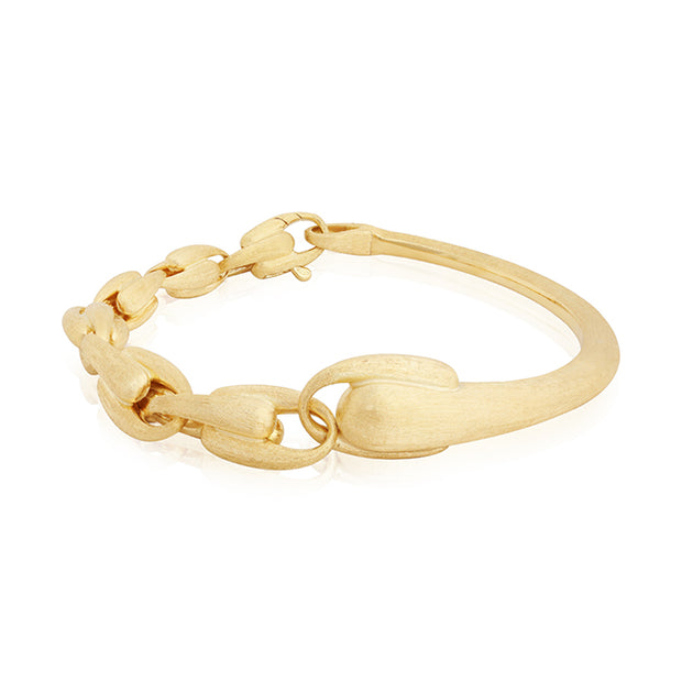 18K Yellow Gold Lucia Collection Bangle