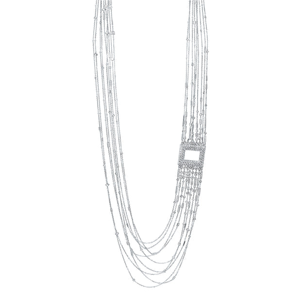 18K White Gold Cosmo Collection Diamond Necklace