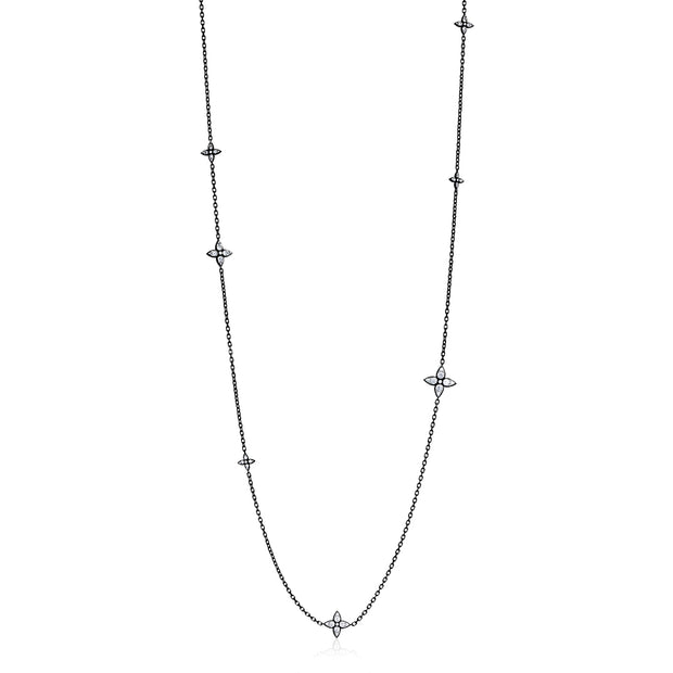 18K Blackened White Gold Lucilla Diamond Necklace