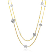 18K Yellow Gold Lucilla Collection Diamond Station Necklace