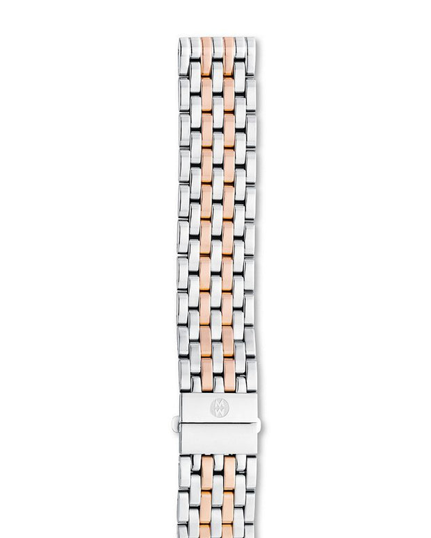 16mm Two-Tone Stainless and Rose Gold 7 Link Bracelet
