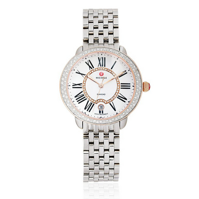 Serein Two-Tone Diamond Watch with Mother of Pearl Dial