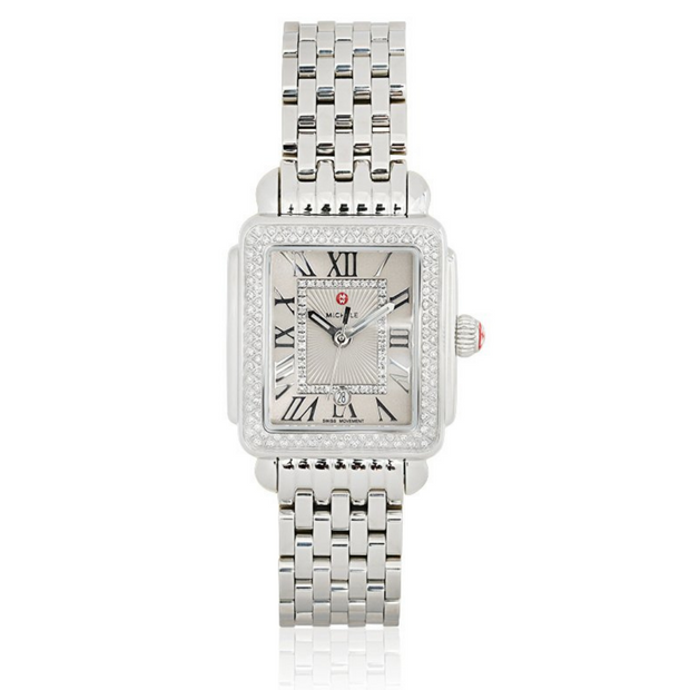 Stainless Steel Deco Diamond Watch