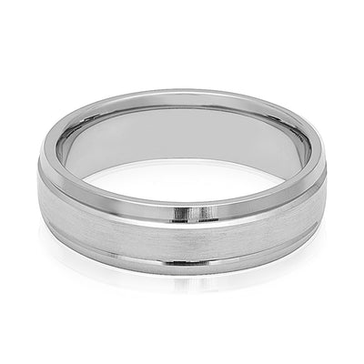 6mm Platinum Men's Wedding Band