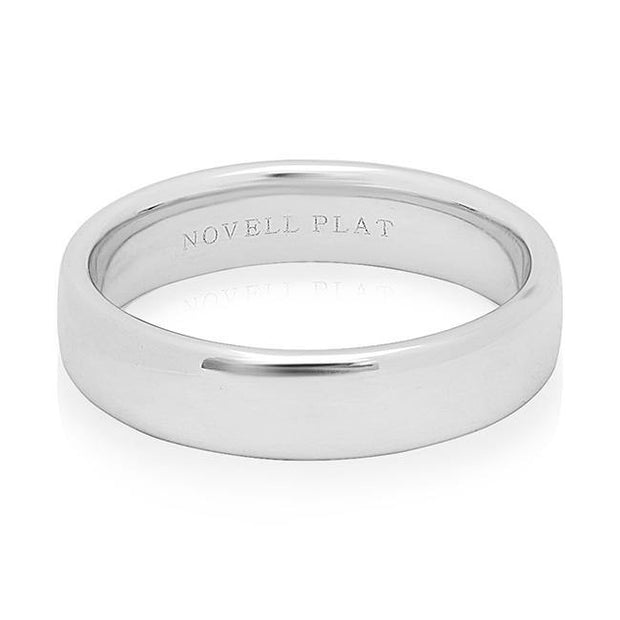 Platinum Comfort Fit Men's Wedding Band with High Polish Finish