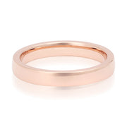 18K Rose Gold High Polished Men's Wedding Band
