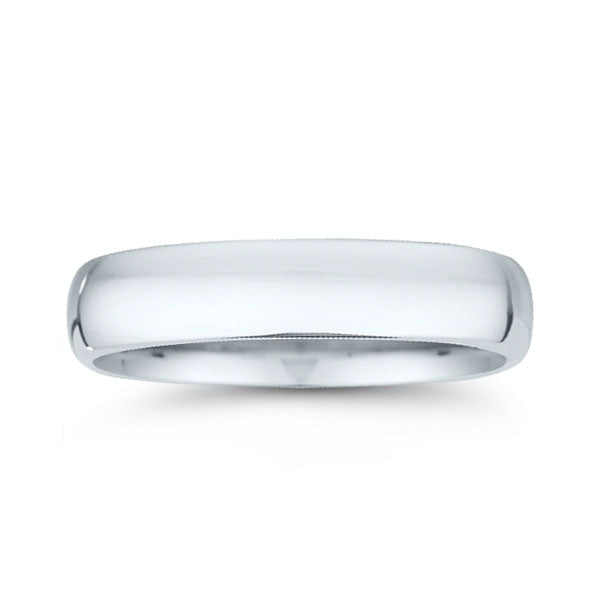 Platinum 5mm Domed Men's Wedding Band