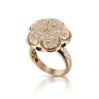 18K Rose Gold Bon Ton Collection White and Champagne Diamond Ring