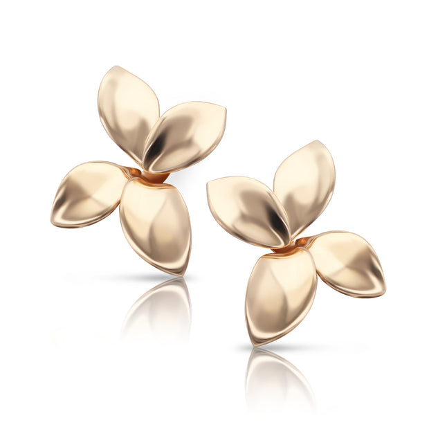 18K Rose Gold Giardini Segreti Collection Flower Earrings