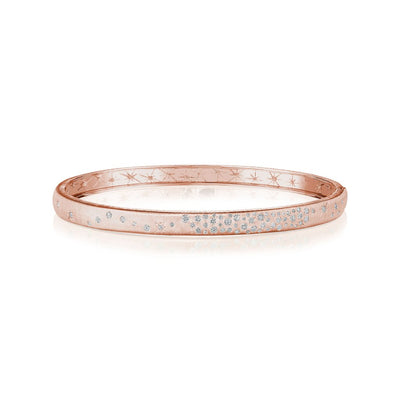 18K Rose Gold Galaxy Bangle Bracelet