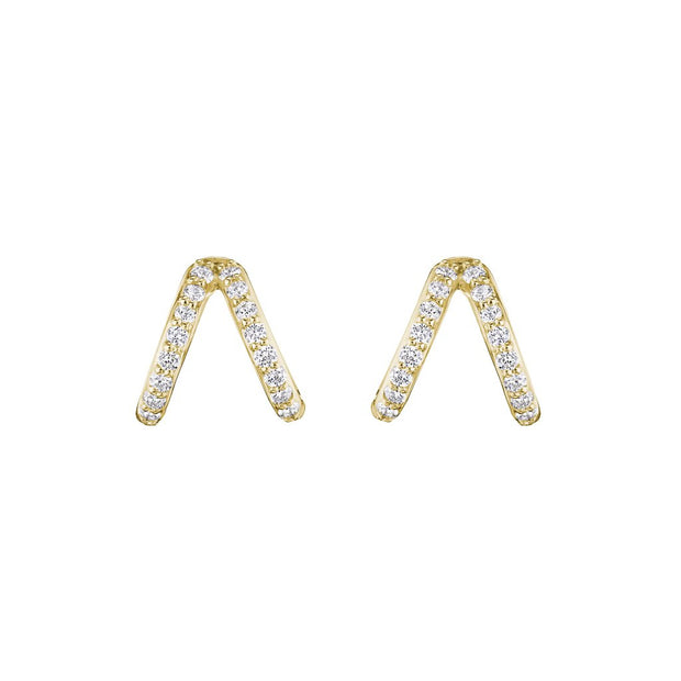 18K Yellow Gold Diamond Double Ear Cuffs
