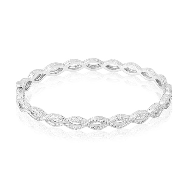 18K White Gold Infinity Diamond Bracelet