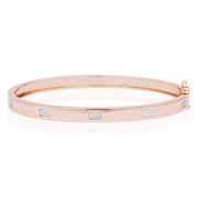 18K Rose Gold Moderne  Baguette Diamond Bracelet