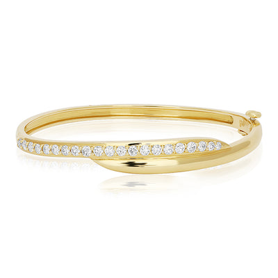 18K Yellow Gold Crescent Collection Diamond Bracelet