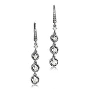 18K White Gold Diamond Triple Drop Earrings