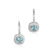 Penny Preville Aquamarine and Diamond Earrings
