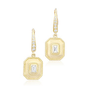 Penny Preville 18K Yellow Gold Emerald Diamond Drop Earrings