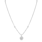 Penny Preville 18K White Gold Round Diamond Necklace