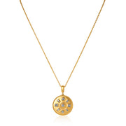 Penny Preville Yellow Gold Diamond Amulette Necklace