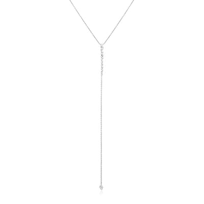 White Gold Stardust Diamond Necklace