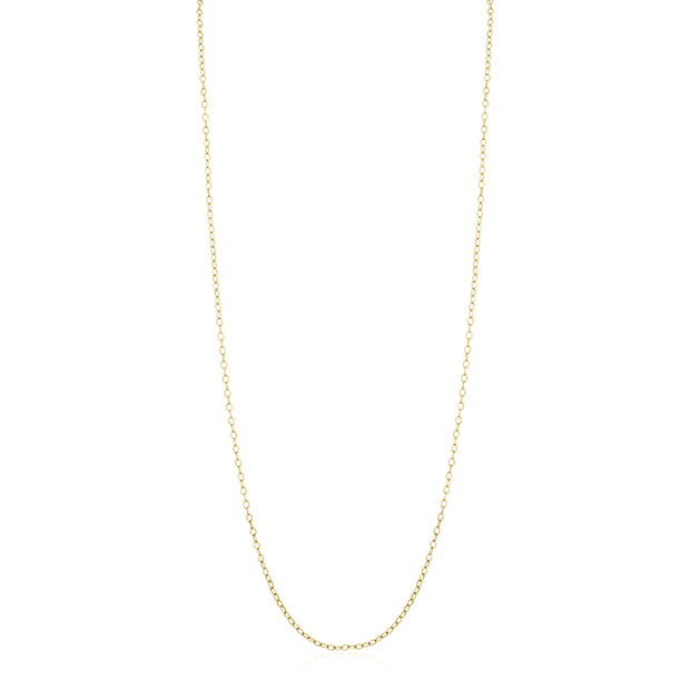 "18K Yellow Gold 32"" Cable Link Necklace"