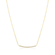 Penny Preville 18K Yellow Gold Diamond Bar Necklace