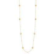 "Penny Preville 18K Yellow Gold 34"" Signature Open Lace Diamond Necklace"