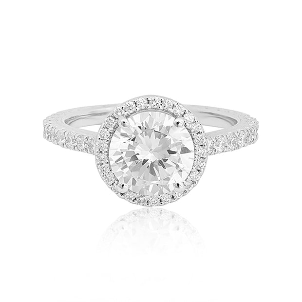 18K White Gold Diamond Halo Mounting