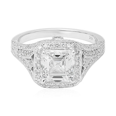 18K White Gold Mara Collection Diamond Mounting