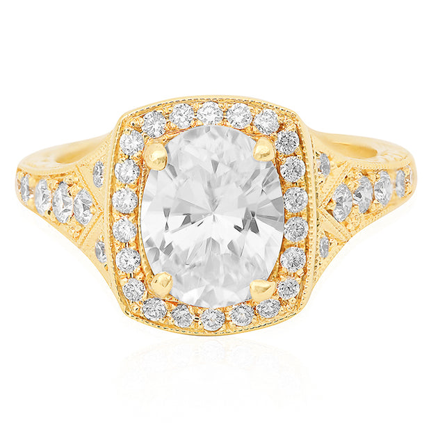 18K Yellow Gold Josephine Collection Diamond Mounting