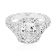 Penny Preville Platinum Halo Diamond Engraved Mounting