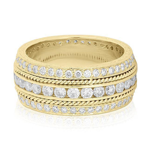 18K Yellow Gold Channel Set Diamond Ring