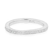 Penny Preville Platinum Round Diamond Eternity Band with Engraved Sides