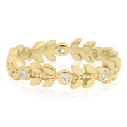 18K Yellow Gold Enchanted Garden Collection Diamond Ring